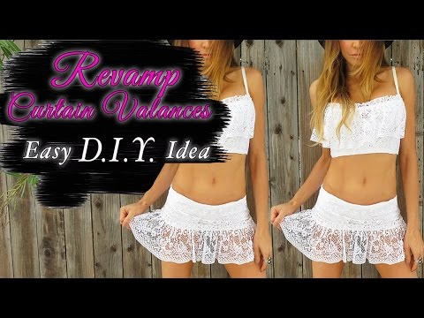 DIY Lace Skirt and Top - Fashion Hack - Transform Curtains
