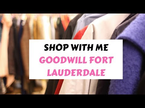 Shop With Me +Thrift Haul: Goodwill Fort Lauderdale