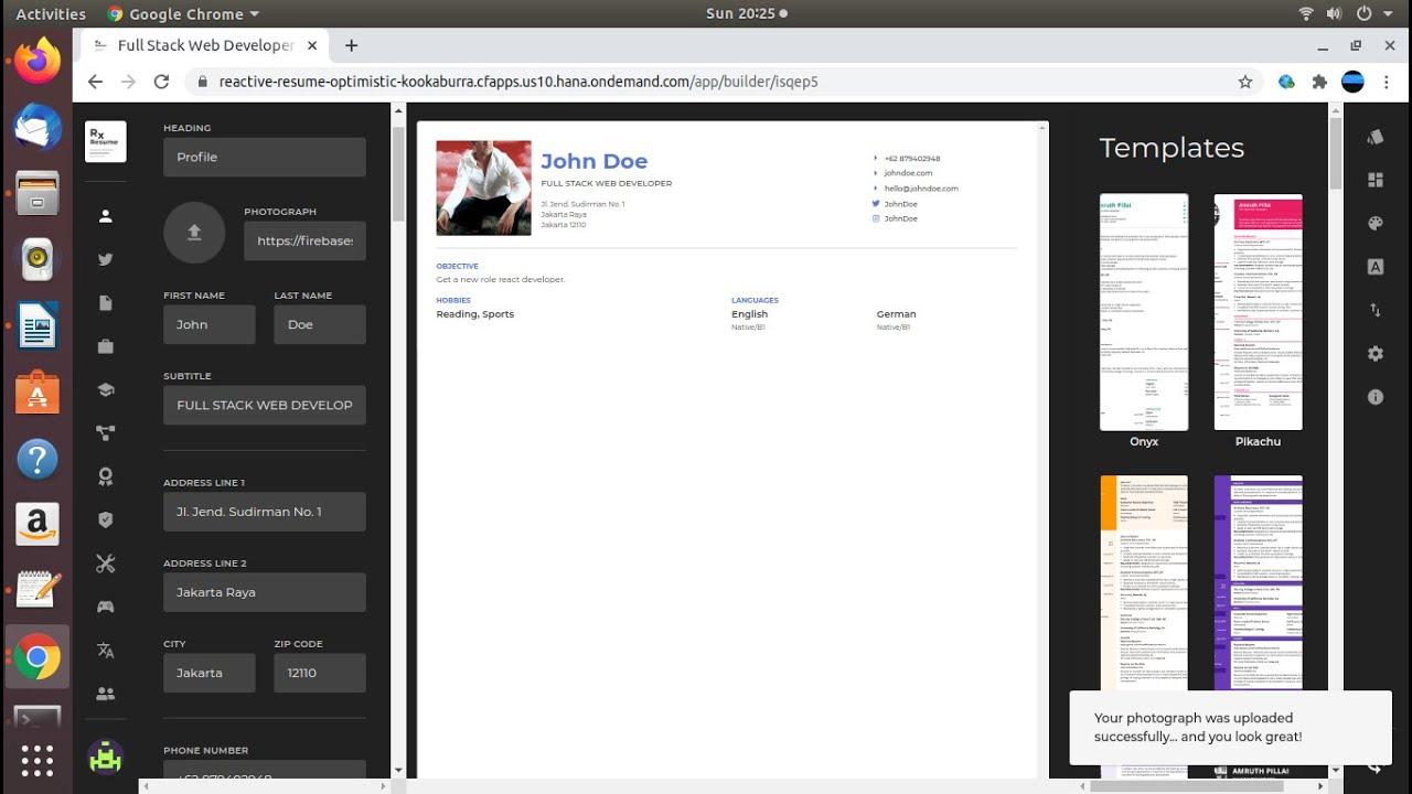 Download Deploy React apps ** Reactive Resume ** to SAP Cloud Platform