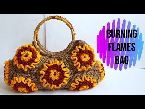 How To Crochet Burning Flames Bag