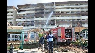Erzin'deki Termal Otelde Yangın