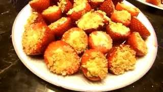 Cheesecake Filled Strawberry Recipe - Valentine's Day Cooking With Pwn