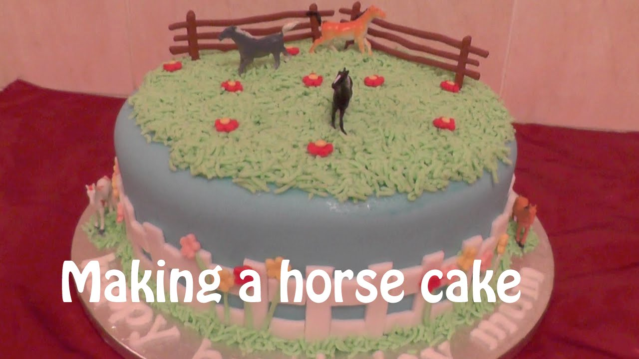 How To Make A Horse Cake Animal Cakes Youtube
