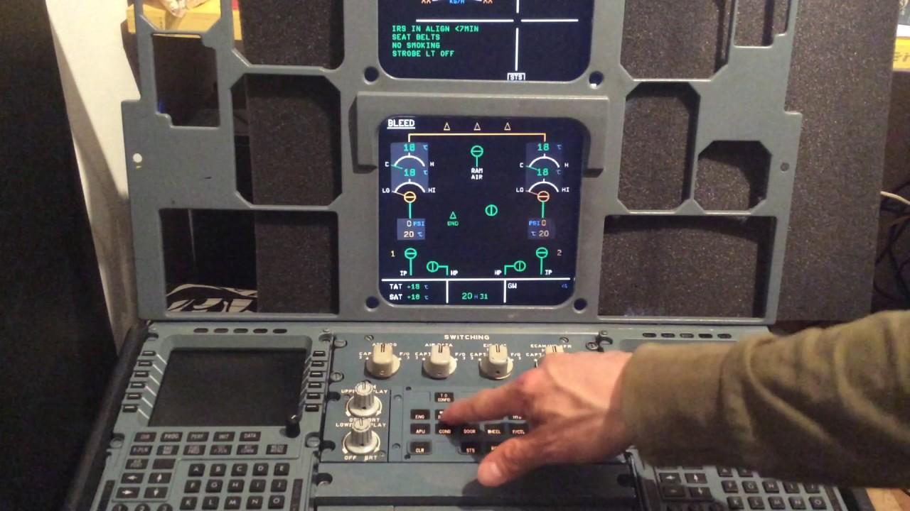 A320 ECAM panel - YouTube