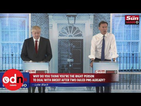 Boris Johnson and Jeremy Hunt clash in final Tory leadership debate