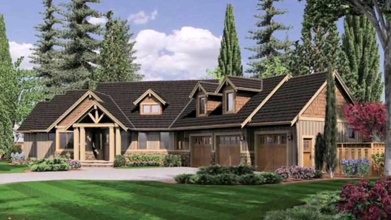 Ranch style house plans angled garage youtube for Long ranch house plans