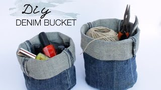 DIY Upcycled Denim Bucket
