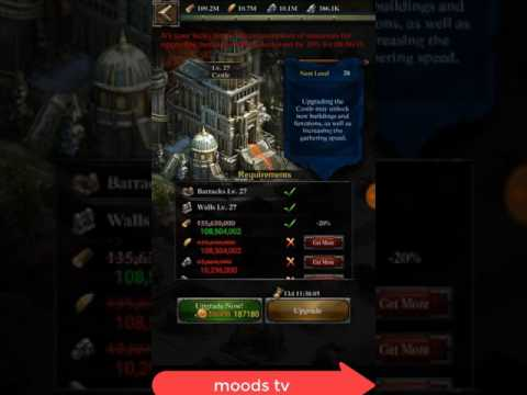 Clash Of Kings Upgrade Castle To 28 Without Gathering 300.000.000 Resoursec