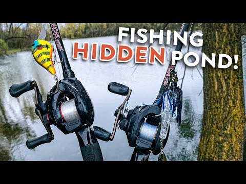 Fishing HIDDEN Pond - Fall Fishing Tips W/ MinnDak Outdoors!