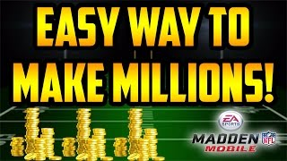 MADDEN MOBILE 17 COIN MAKING METHOD!! HOW TO MAKE MILLIONS USING THIS SNIPING FILTER/INVESTMENT TIP!