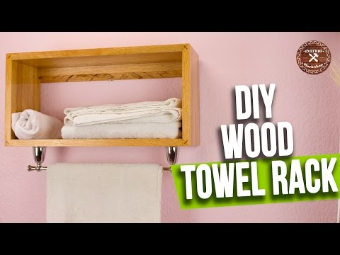 How to make Wood Towel Rack | Easy and Minimalist Style | Interioworkshop