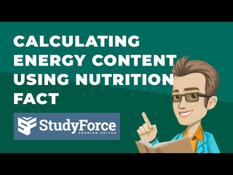 Calculate Energy Content for a Food Using Nutrition Facts