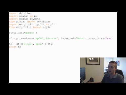 Python and Pandas for Sentiment Analysis and Investing 2 - Pandas Basics