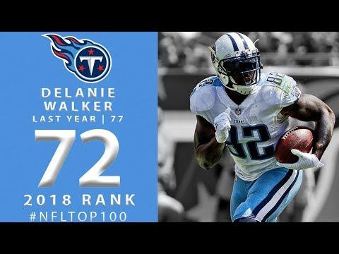 #72: Delanie Walker (TE, Titans) | Top 100 Players of 2018 | NFL