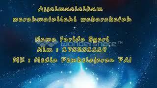 """Media Pembelajaran PAI audio visual """"Mengenal Nama-Nama Allah SWT""""."""