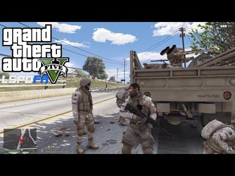 GRAND THEFT AUTO 5 LSPDFR EP #122 - MILITARY PATROL FAIL (GTA 5 PC POLICE MODS)
