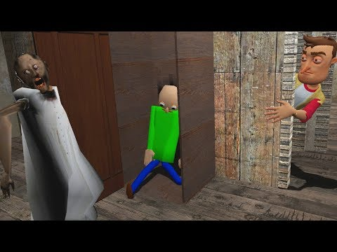 BALDI FOUND IN THE GRANNY HOUSE?! - Garrys Mod Gameplay (Gmod Roleplay) - Baldi & Granny!