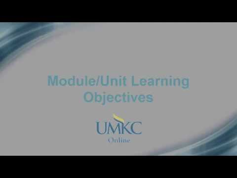 10. Module-Unit Learning Objectives - Certification Checklist