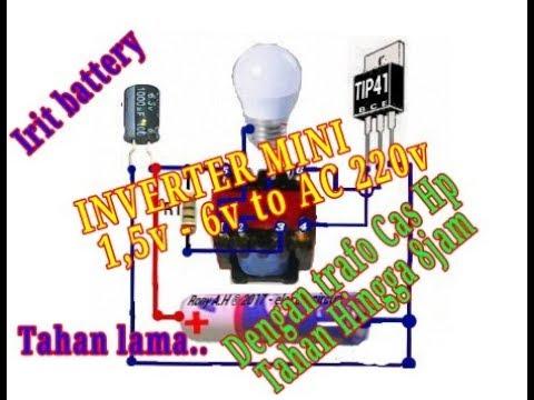 MINI INVERTER DC 1.5v - 6v To AC 220v  #JT atau Joule Thief