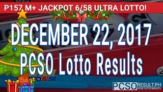 PCSO Lotto Results Today December 22, 2017 (6/58, 6/45, 4D, Swertres, STL & EZ2)