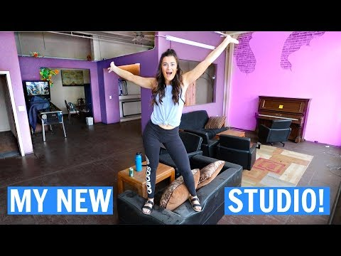 I got a studio space for filming! CLOE'S CLUBHOUSE!