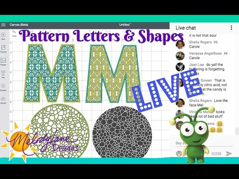 Creating Your Own Pattern Shapes And Letters In Cricut Design Space