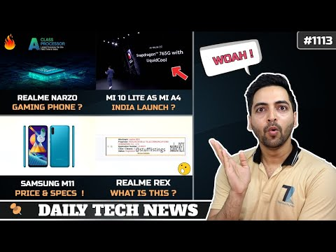 Realme Narzo Gaming Phone,We Found The Cure,Mi A4 India Launch,Realme Rex,Samsung M11 Price