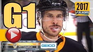 Nashville Predators vs Pittsburgh Penguins. 2017 NHL Playoffs. Stanley Cup Final. Game 1. (NOT HD)