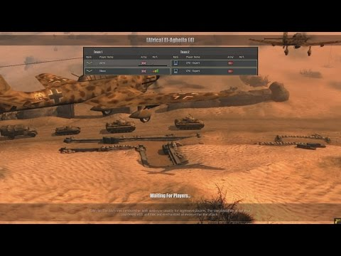 Company of Heroes : Europe at War - Mod - 2vs2 Cpu (expert) - Map : [Africa] El-Agheila