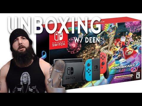 Mario Kart 8 Deluxe Nintendo Switch Console (Bundle) - Unboxing W/ Deen
