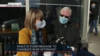 What is your message to Canada's war veterans? | Outburst