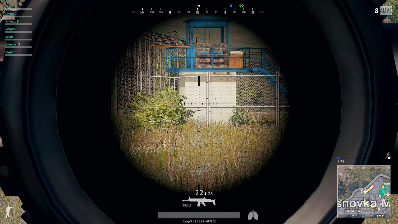 how to read 8x scope pubg