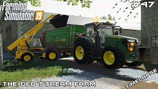 New tractor & spreading manure | Animals on The Old Stream Farm | Farming Simulator 19 | Episode 47
