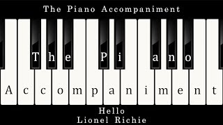 Lionel Richie - Hello (Piano Karaoke)