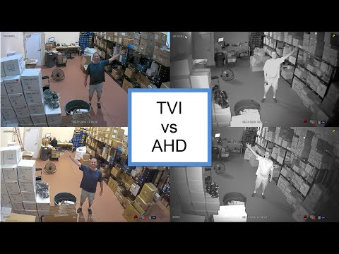 TVI vs AHD 1080p HD Security Camera Comparison