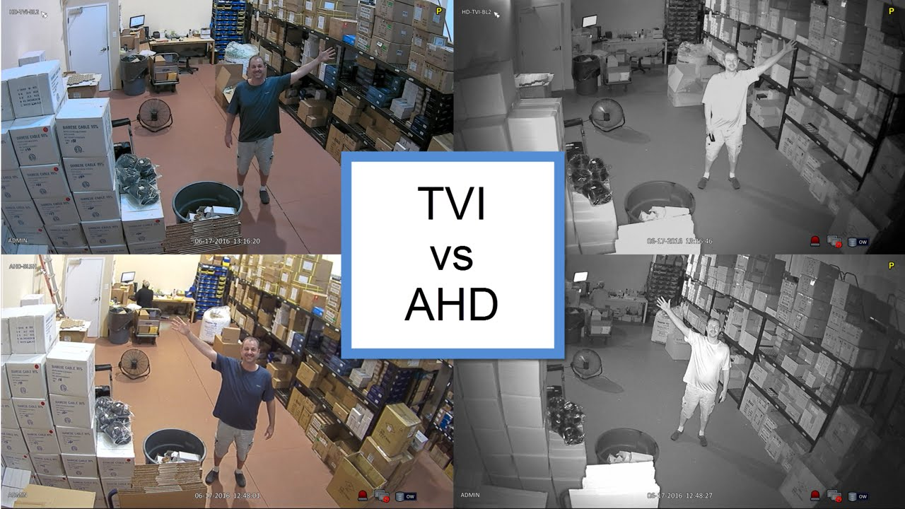 Tvi Vs Ahd 1080p Hd Security Camera Comparison Youtube