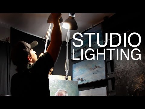STUDIO LIGHTING / How to light your Art Studio on a BUDGET! & STUDIO LIGHTING / How to light your Art Studio on a BUDGET! - YouTube