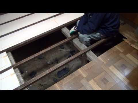 DIYリフォーム フローリングの床を張り替えてみた