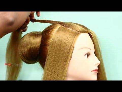 Bundles for Short Hair from Elastics. Quick Hairstyles. Bundles for Short Hair made of Elastics