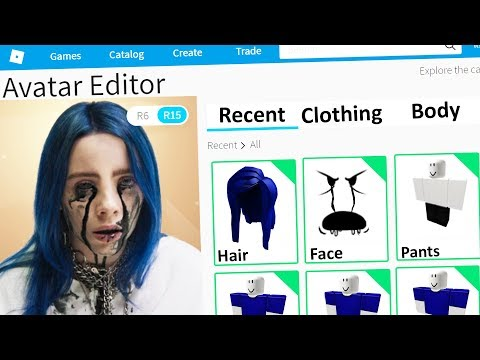 MAKING BILLIE EILISH A ROBLOX ACCOUNT