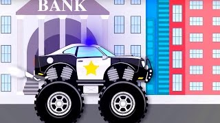 Monster truck police, Surprise eggs & Children songs