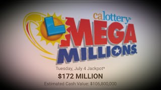 Mega Millions Numbers for July 4th's $172 Million
