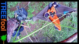 Aerial Stealth Camping in a Public Park ----- Hammocking in MN