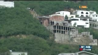 Video del derrumbe en la colonia Renacimiento, al sur de Monterrey