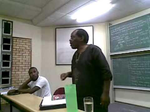 Theo Mabusela Speaks (PAC of Azania) 1