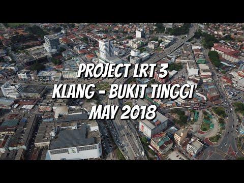 Drone footage Project LRT 3 | Klang - Bukit Tinggi 20.5.2018