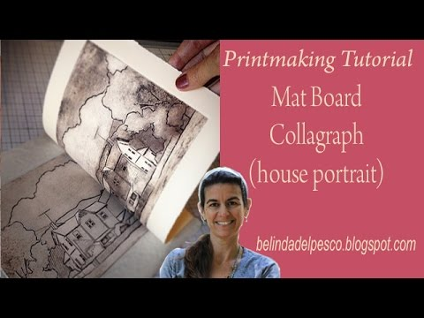 How to Make a Collagraph Print (with Mat Board - Line Style) without a Press