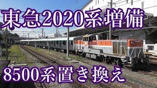 【増備】東急2020系2131F甲種輸送長津田駅到着&スイッチバック (警笛あり)