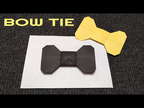 ORIGAMI PAPER BOW TIE. How to make a paper Bow.