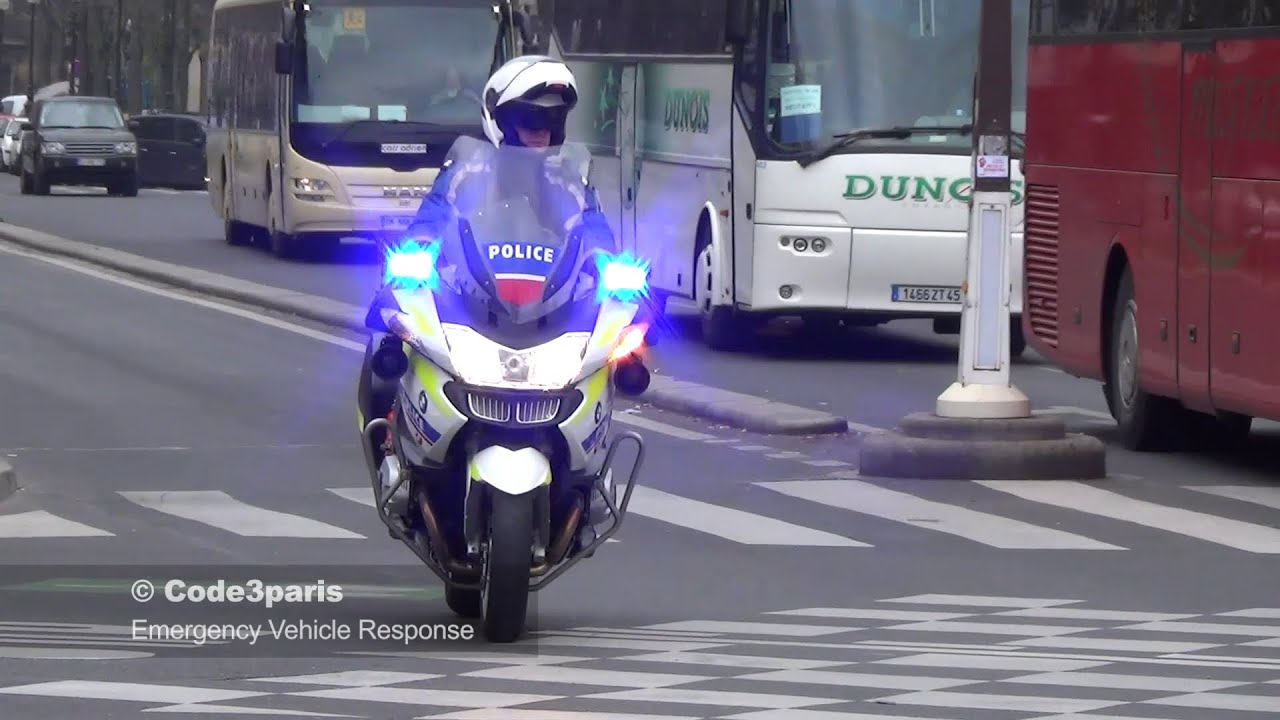 Police Motorcycle Escort Buses - Lights, Sirens, Whistles ...